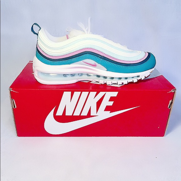 New Nike Air Max 97 WHITEPSYCHIC PINK NIGHTSHADE